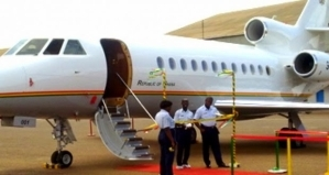 Ghana Presidential Jet catches fire