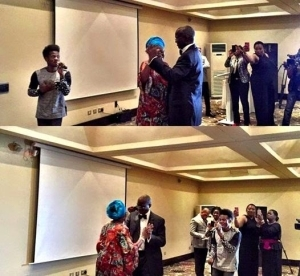 Gov Fashola & wife in couples dance at her pre-birthday party