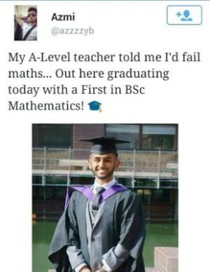 His Teacher Told Him He