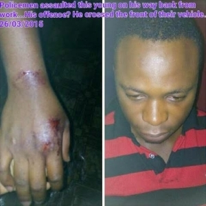 How Policemen Allegedly Assault Young Man Returning From Work