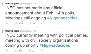 INEC Denies Postponing February Elections