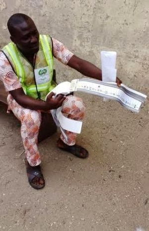 INEC Official Caught With Thumb-Printed Ballot Papers