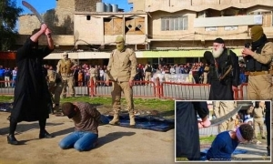 ISIS beheads three men with sword for being homosexuals