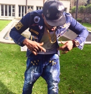 Ice Prince Rocks Limited Edition 24-Carat Gold Signature Jeans