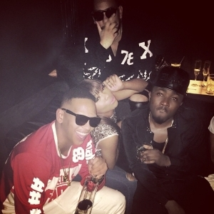 Ice Prince Spots In A Party With Bonang Matheba, AKA and Da Les in South Africa