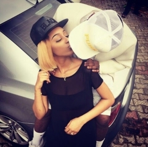 Ice Prince kisses girlfriend in new photo