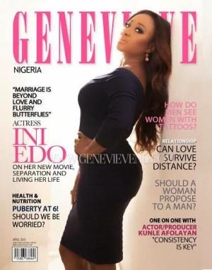 Ini Edo Covers April Issue Of Genevieve Magazine