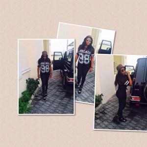 Ini Edo Poses With Her N38m G-Wagon AMG 65