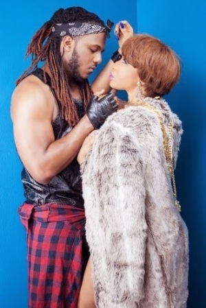 Is Artist Nedu Trying To kiss Tonto Dikeh On The Song He featured Her?