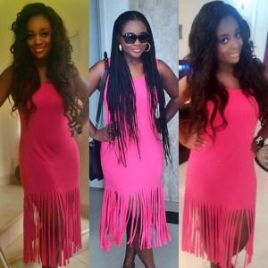 Jackie Appiah stunning look in pink…