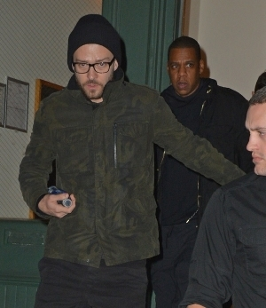Jay Z and Justin Timberlake visit Taylor Swift