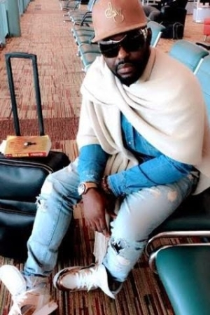 Jim Iyke steps out in distress jeans (photos)