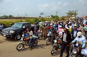 Jimi Agbaje Rides Okada to Rally