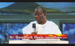 Jonathan Attends Sunday Service At Bishop Oyedepo's Living Faith Church