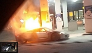 Just Like That? $845,000 Porsche 918 Spyder Burns To The Ground In Canadian Gas Station   Photos