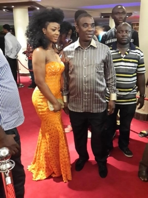 K1 steps out with daughter at Headies 2014