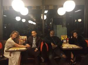 Kanye And Kim Kardashian Hangs Out With John Legend and Wife