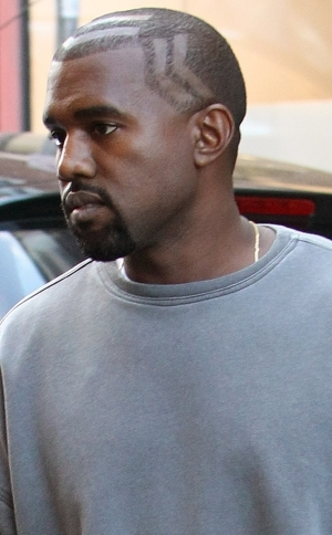 Kanye West Debuts New Weird Haircut—and You've Gotta Take a Closer Look! | PHOTOS
