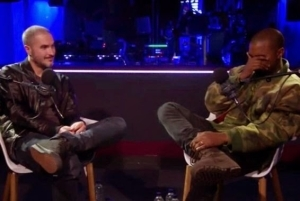 Kanye West cries during interview