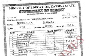Katsina College releases Buhari