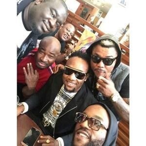 Kcee, Oritse Femi, Iyanya & Harry Song Pose for Selfie