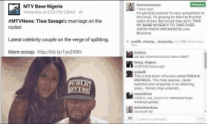 Kenyan Star Says He Is Available If Tiwa Savage's Marriage Collapses