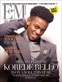 Korede Bello Covers Exquisite Magazine January 2015 Edition