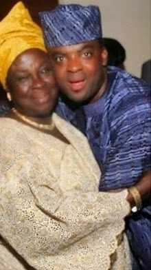 Kunle Afolayan and his mum many years back and now...