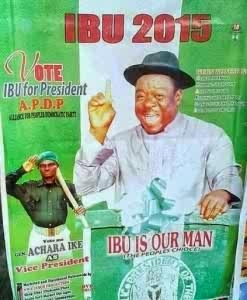 LWKMD!!! Mr. Ibu Also Joins Politics; SEE HIS CAMPAIGN POSTER