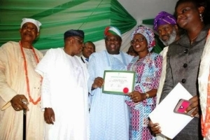 Lagos Governor-elect, Ambode Receives Certificate Of Return