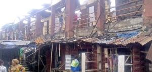 Lagos market fire victims lament losses