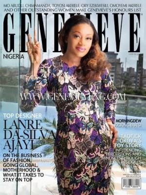 Lanre Da Silva Ajayi cover March issue of Genevieve mag