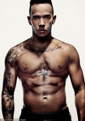 Lewis Hamilton Uses Hot Body To Cover Men