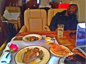 Lol!! Iyanya Doses Off While On Dinning Table