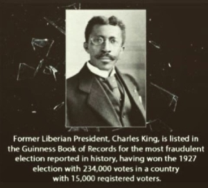 Lol. Imagine what this former Liberian president is known for...