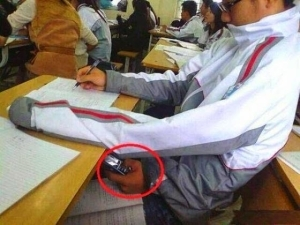 Lol. Indian boy photographed cheating in exam