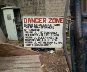 Lol. Read What Could Happen To You If You Attempt To Steal From This Transformer