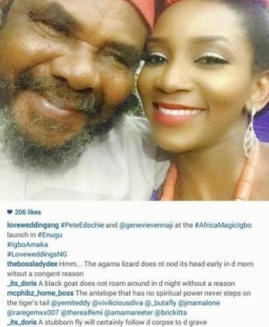 Lol. What Is This? Read The Comments On Pete Edochie & Genevieve Nnaji