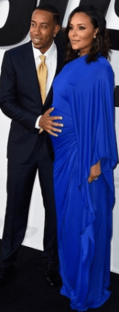 Ludacris and his pregnant wife at Fast & Furious 7 premiere