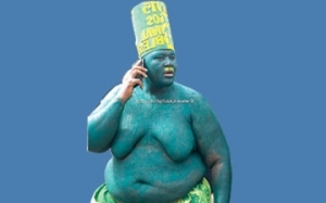 Man Turns Himself Into Attraction At Lagos Carnival (See Trending Photo)