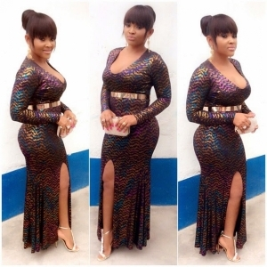 Mercy Aigbes Stunning Outfit For Iyabo Ojo's Birthday Party