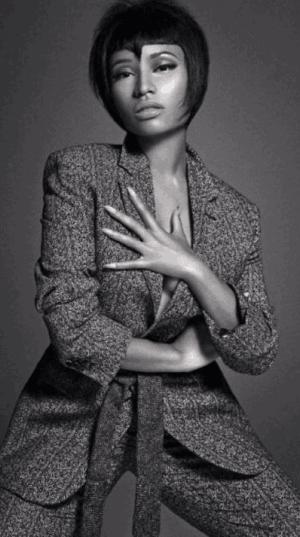 "Nicki Minaj Dazzles In The Latest Issue of Men's Fashion Magazine ""L'Uomo Vogue"""