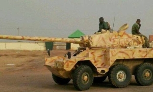 Nigerian troops capture monstrous armored tank from Boko Haram