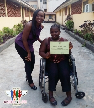 Nikki Laoye offers scholarship to physically-challenged student on 34th birthday