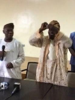 OMG!! Obasanjo publicly torn off his PDP membership card