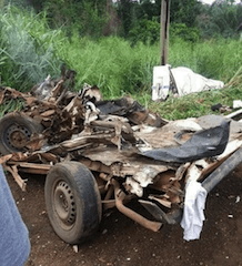 OOU Students Crushed To Death After Container Falls On Commercial Bus In Ogun