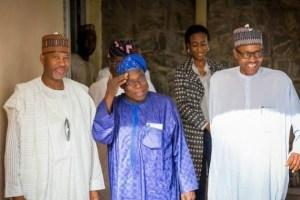 Obasanjo Meet Gen Muhammadu Buhari In Abuja