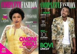 Omoni Oboli and Bovi cover April issue of Complete Fashion mag..