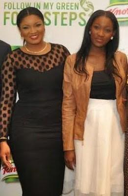 Omotola Poses With Her 15-Year-Old Daughter, Meraiah Ekeinde
