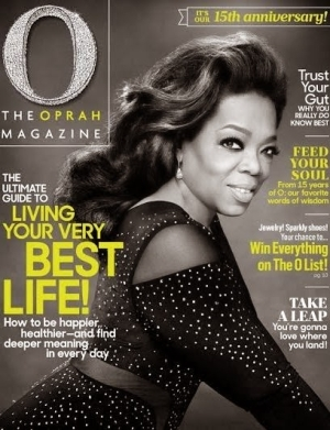 Oprah Winfrey Covers O Mag With Beautiful Photos As She Celebrates Her 15th anniversary